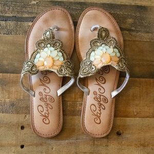Naughty Monkey Beaded Thong Sandals